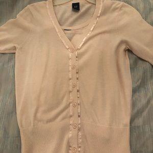 Two piece short sleeve cardigan set